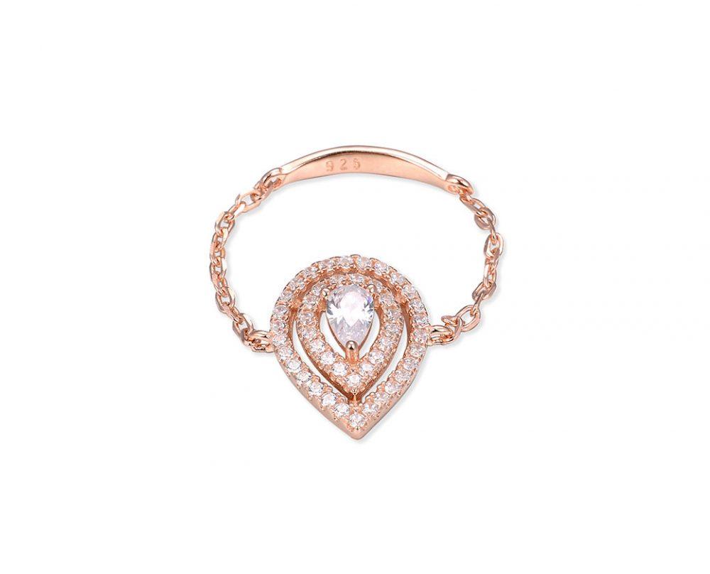 bague-chaine-poire-double-or-rose-zirconium