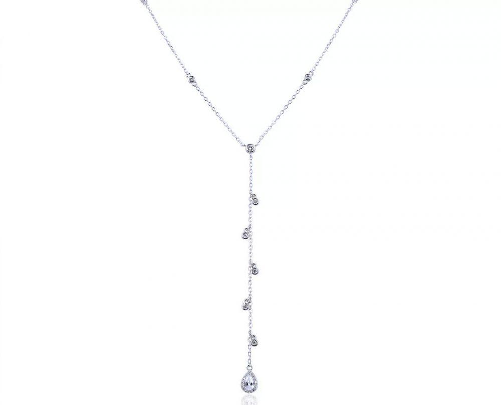 collier-tombant-gouttes-argent-zirconium-raindrop