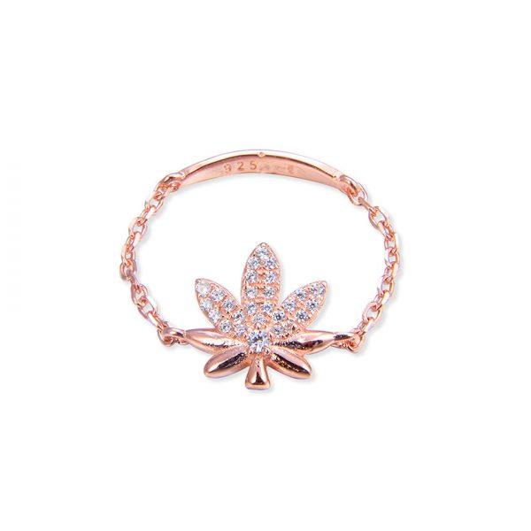 bague-chainette-marijuana-plaque-or-rose