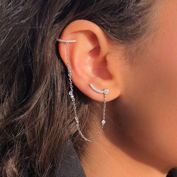 boucle d'oreille chaine helix