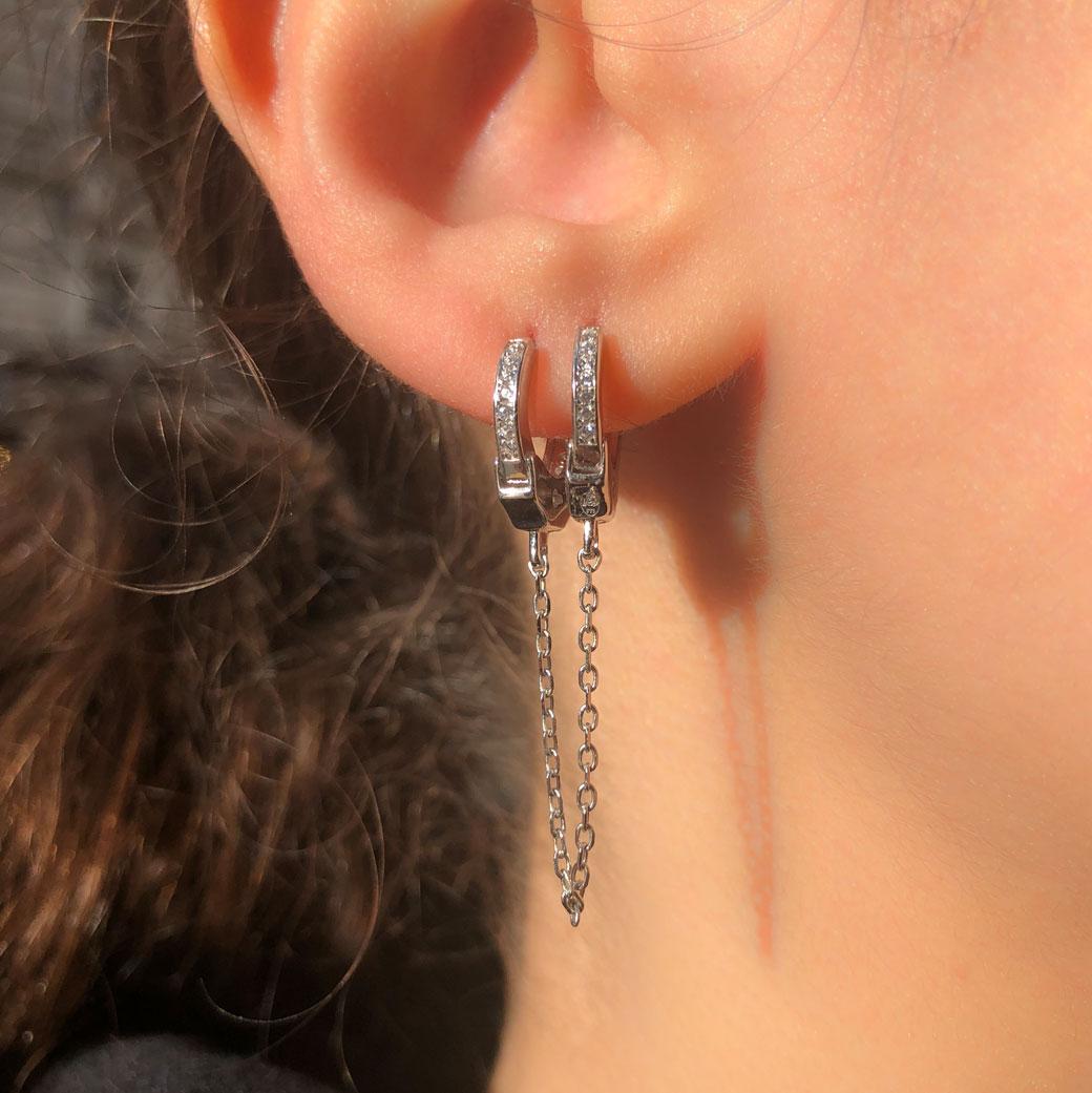 boucle d'oreille 2 trous