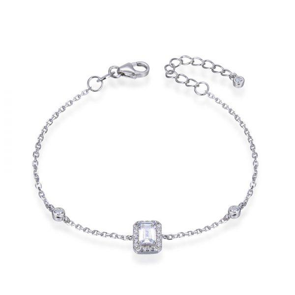 bracelet-chaine-pierre-rectangulaire-argent-zirconium