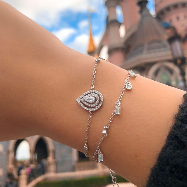 bracelet-poire-brillante-argent-zirconium