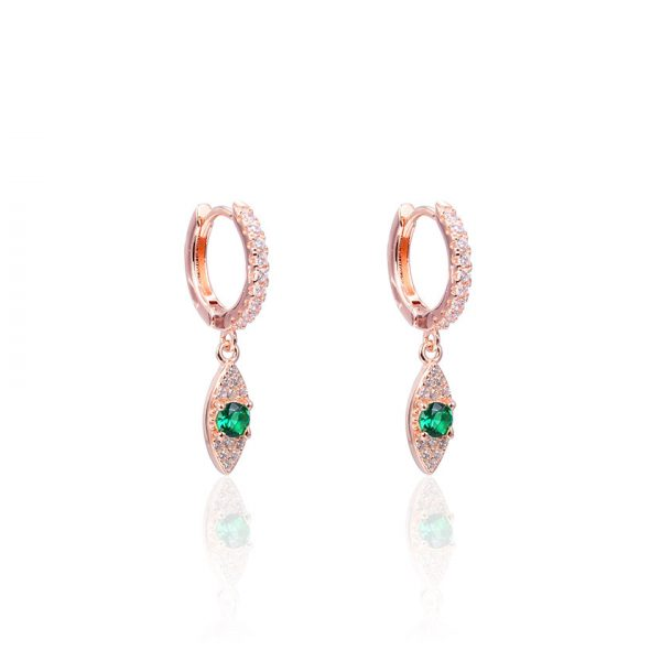 creoles-yeux-verts-rose-gold-evil-eye
