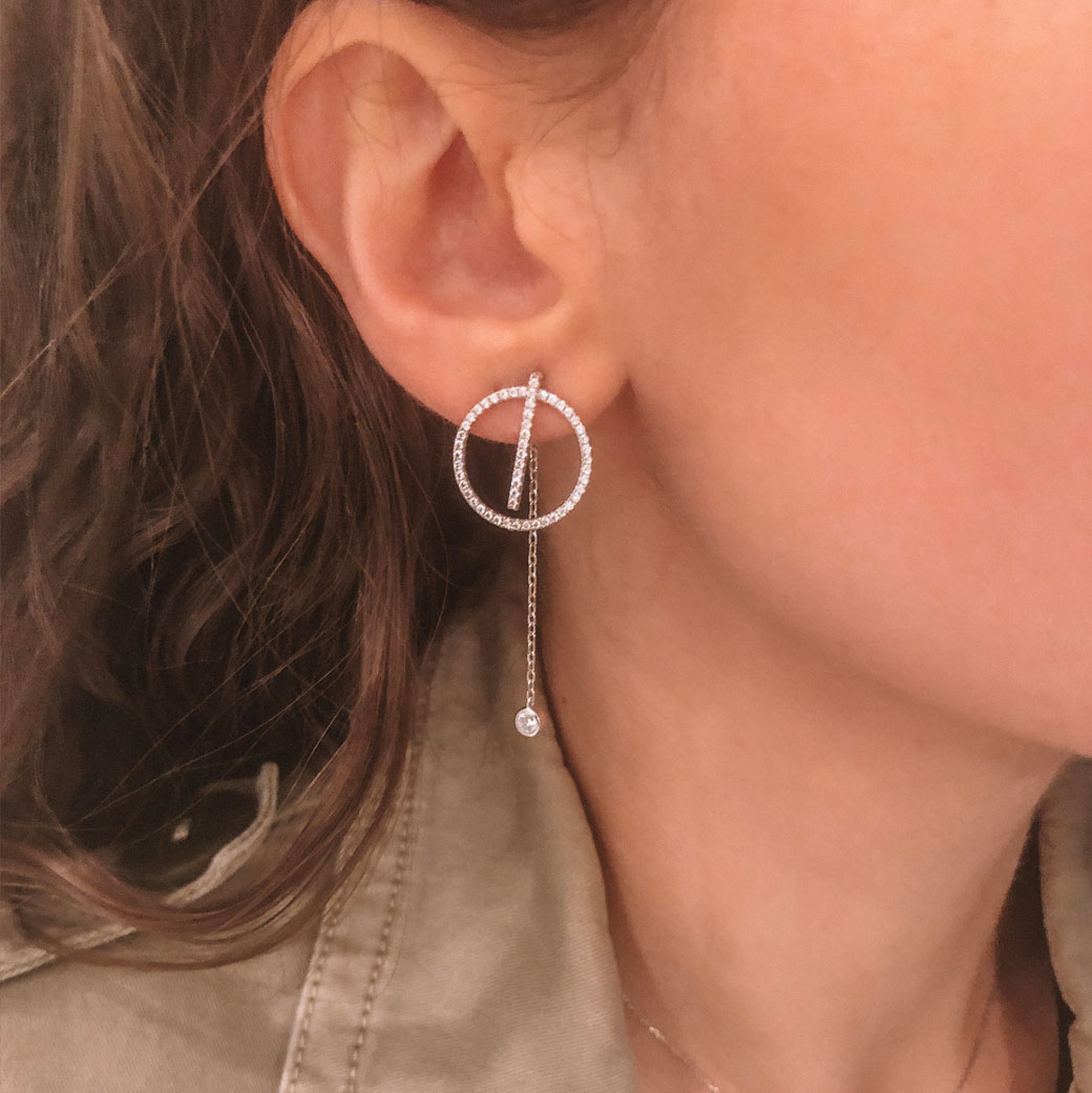 boucles d'oreille barre