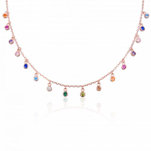 choker-pierres-multicolores-plaque-or-rose