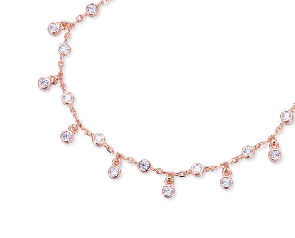 collier-pampilles-plaque-or-rose-petits-ronds-zirconium
