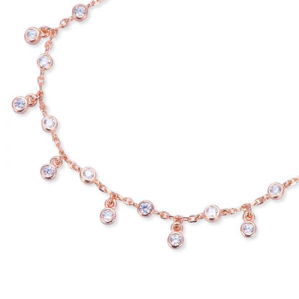 collier-pampilles-plaque-or-rose-petits-ronds-zirconium