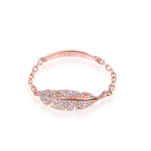 bague-chainette-plume-rose-gold
