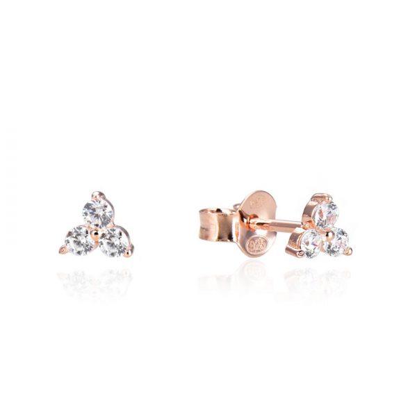 puces-oreille-triangle-3-pierres-plaque-or-rose