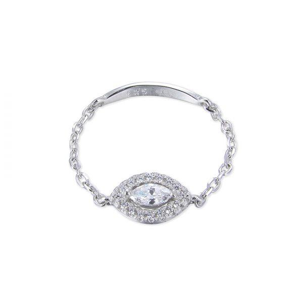 bague-chainette-oeil-argent-zirconium