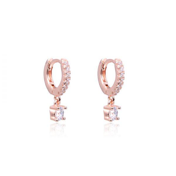 mini-creoles-avec-pendentif-plaque-or-rose-10-mm
