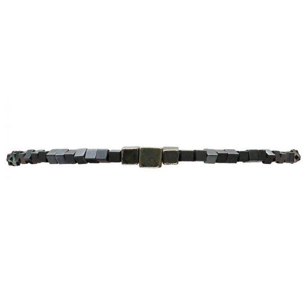 bracelet-fin-pour-homme-gris-hematites-carrees