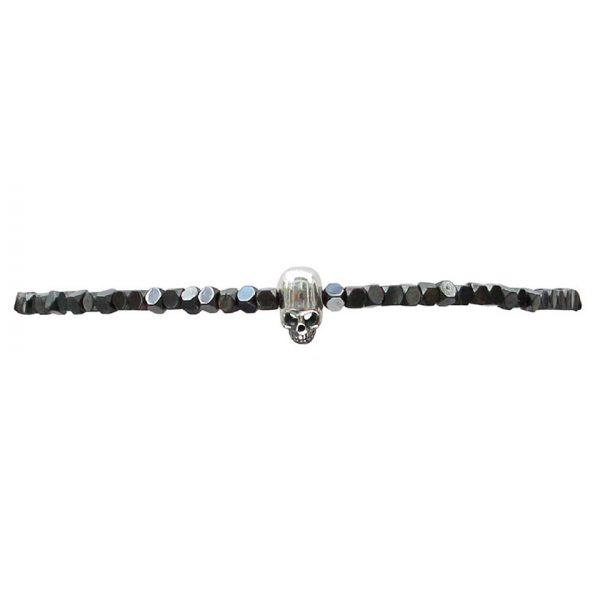 bracelet-fin-homme-tete-de-mort-argent-hematites-grises