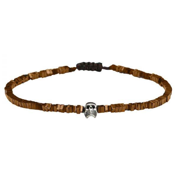 bracelet-fin-homme-tete-de-mort-argent-hematites-bronze