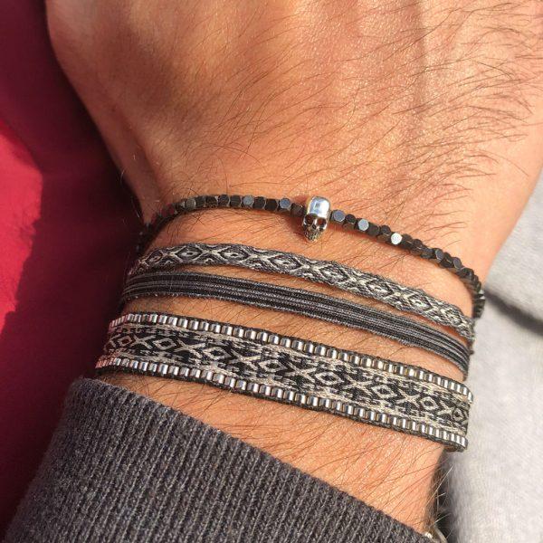 bracelet-homme-crane-argent-pierres-hematites-grises