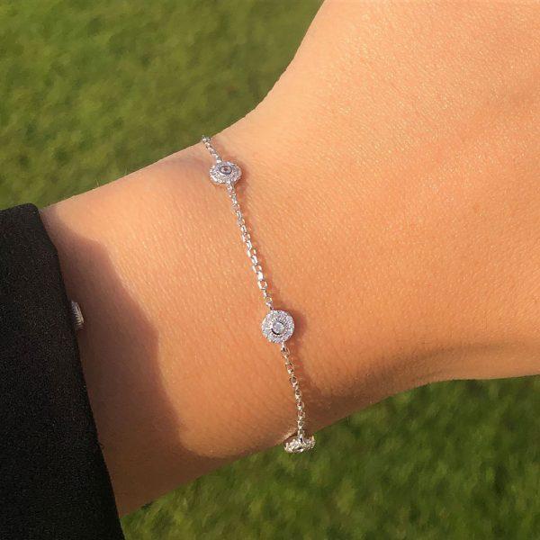 bracelet-femme-argent-petits-ronds-brillants