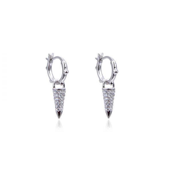 mini-creoles-pointes-cones-brillants-argent-zirconium