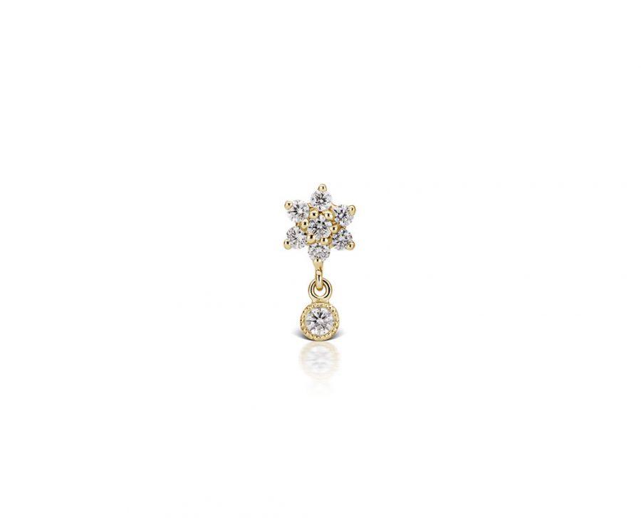 petite-boucle-oreille-doree-fleur-pendentif-brillant-zirconium
