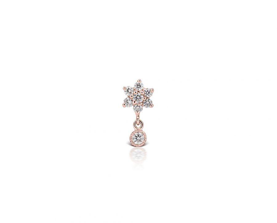 petite-boucle-oreille-fleur-pendentif-rond-plaque-or-rose-zirconium