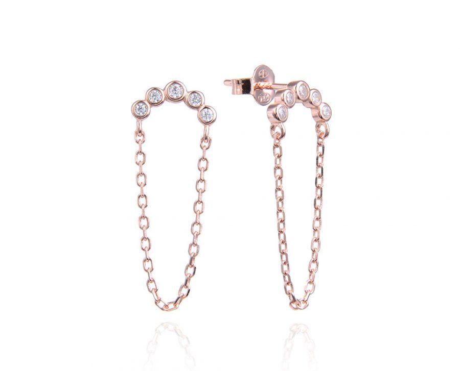 boucles-oreilles-chaine-pendante-demi-lune-plaque-or-rose-zirconium