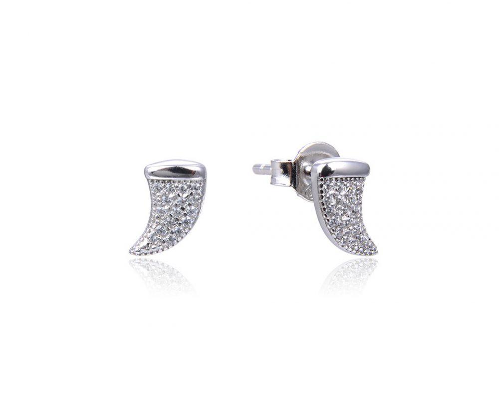 boucles-oreilles-petites-cornes-brillantes-argent-zirconium