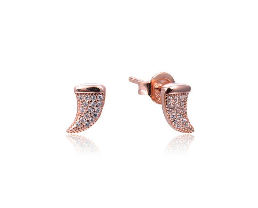 boucles-oreilles-petites-cornes-brillantes-plaque-or-rose-zirconium