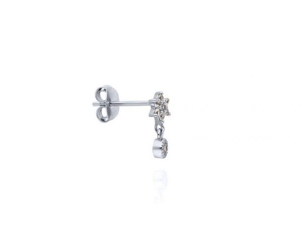 puce-oreille-fleur-pendentif-rond-argent-zirconium