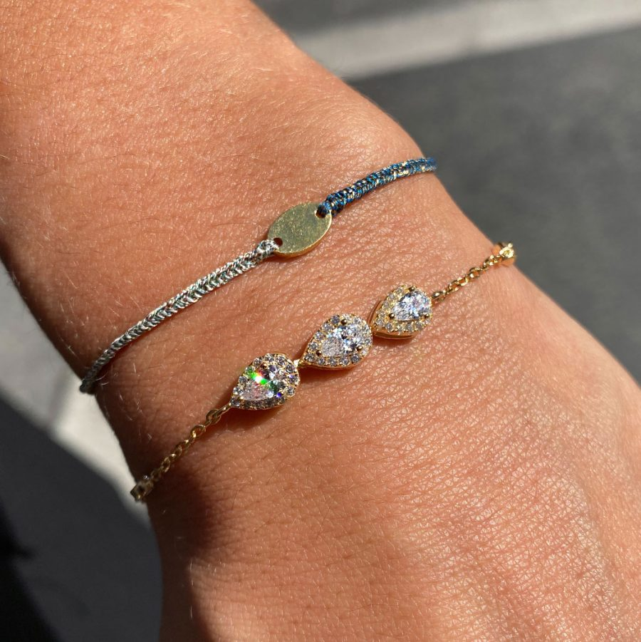 bracelet-cordon-bleu-ciel-marine-ovale-dore
