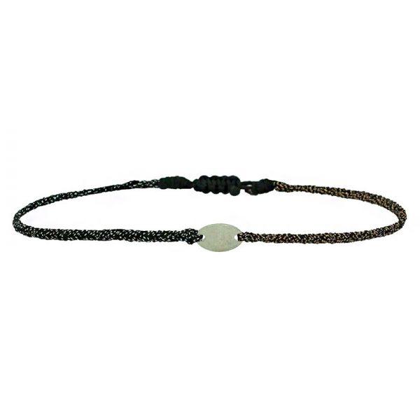bracelet-bicolore-cordon-lurex-ovale-argent