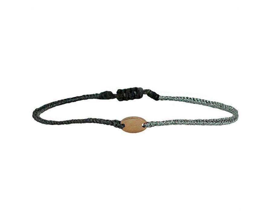 bracelet-bicolore-cordon-lurex-ovale-plaque-or-rose