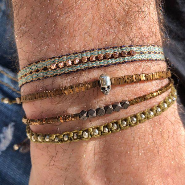 bracelet-tresse-ethnique-bleu-turquoise-perles-bronze-homme