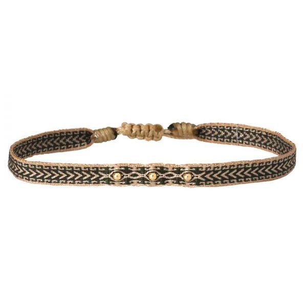 bracelet-homme-beige-kaki-perles-or