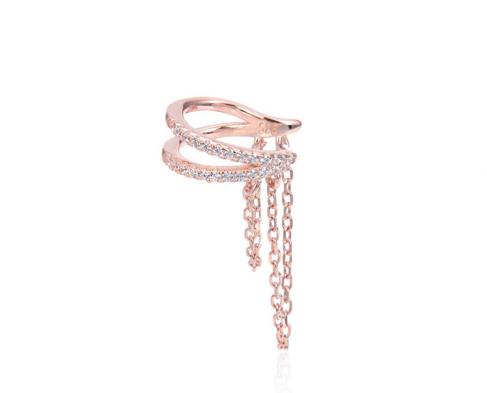 faux-piercing-oreille-chaine-pendante-plaque-or-rose-zirconium
