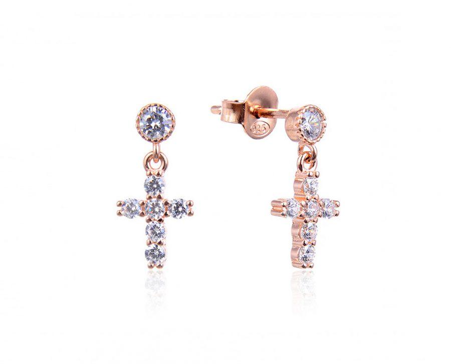 boucles-oreilles-petite-croix-strass-plaque-or-rose